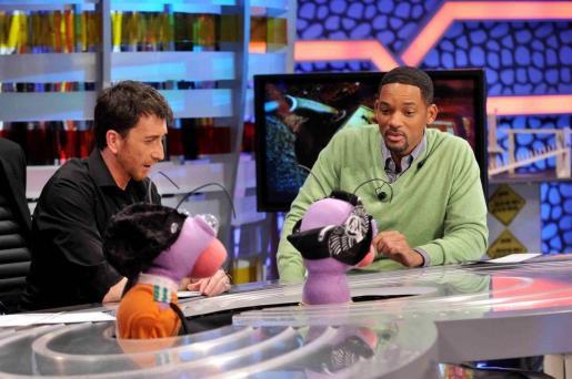 Pablo Motos, con uno de sus invitados, el actor americano Will Smith.