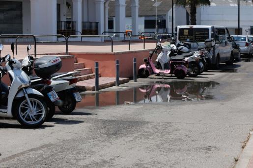 Vertido de aguas fecales en Ibiza.