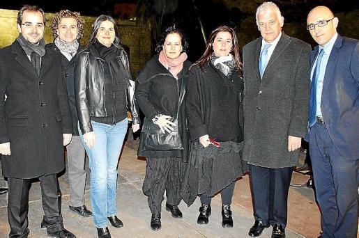 Carlos y Dani Ruano, Silvia Romero, Pilar Ruibal, Pilar Negredo, Damià Vich y Antonio Sánchez.