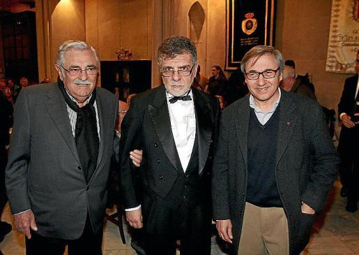 Pere A. Serra, Joan March y Pep Carbonero.