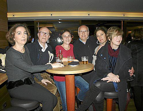 Marisa Munar, Nanis Cabot, Amalia Cabot, Guillermo Canals, Pilar Nicolau y Blanca Moll.