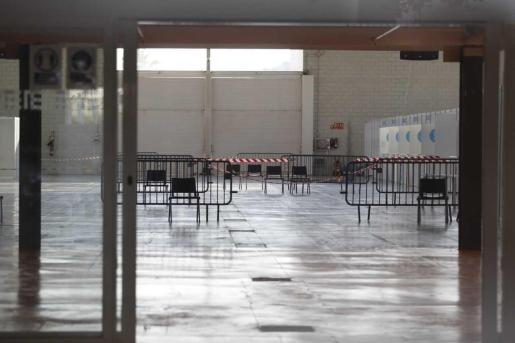 Centro de vacunación del Recinto Ferial de Ibiza, en una imagen de archivo.