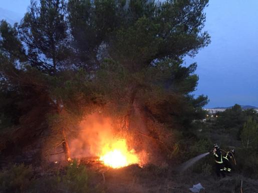 Incendio en el Camí de s'Estanyol.