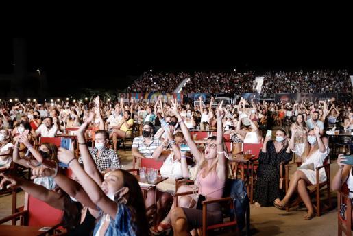 Imagen del concierto reciente de Camilo en Palma.