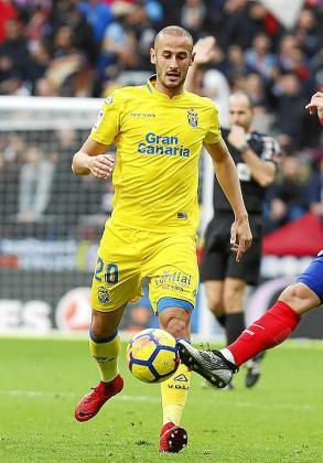 Gálvez, en un partido de su etapa con la UD Las Palmas.
