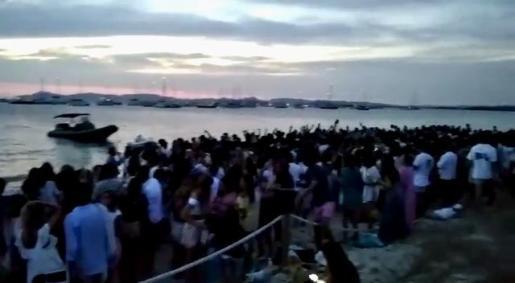 Captura de un vídeo de una fiesta ilegal en Formentera.