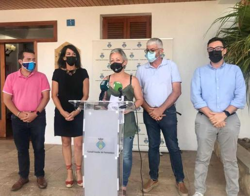 La presidenta Alejandra Ferrer, ayer, en sus declaraciones públicas.