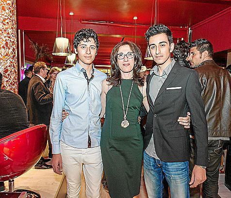 Giacomo Di Paolo, Arianna Romano y Eduardo Di Paolo.