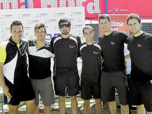 David Encina, Rafa Nicolau, Pedro Cayuela, Cosme Garcías, Miguel Bordoy y Toni Aloy.
