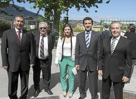 Carlos Simarro, Pere A. Serra, Margaret Mercadal, Gabriel Company y Jaume Orell.