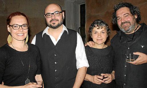 Ingrid Medina, Curro Viera, Marie-Noëlle Ginard y Robert López.