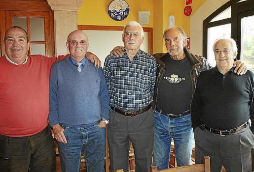 Andreu Gelabert, Pedro Xuglá, José Luis Jiménez, Vicenç Vila y Guillem Montoya.