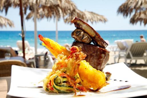 Deliciosos platos frente al mar
