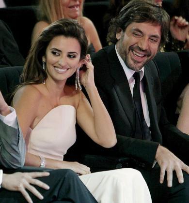 La actriz Penélope Cruz y el actor Javier Bardem, durante la XXIIII edición de los Premios Goya .