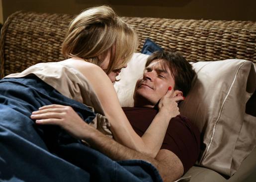 Charlie Sheen, en una escena de la serie.