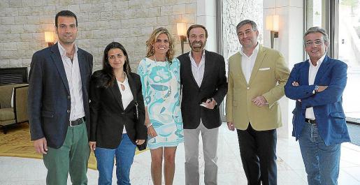 Miguel Conde, Cristina Martí, Isabel Guarch, Tolo Riera, Fernando Gibaja y Antonio Calvo.