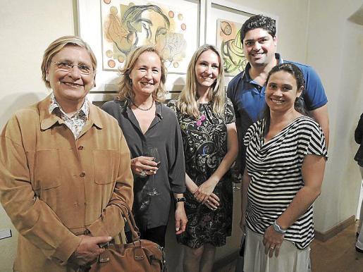 María Ángeles Verges, Cristina Escape, Coloma Castañer, Rodrigo Sanz y María Luisa Fuster.