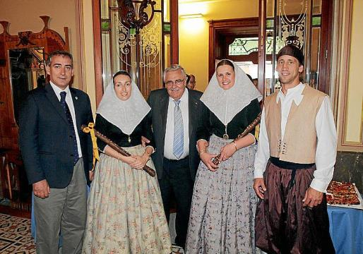 Carlos Simarro, Maria Antònia Oliver, Pere A Serra, Antònia Frau y Antoni Josep Sosa.