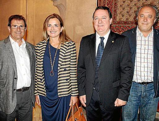 Llorenç Huguet, Gari Durán, Rafael Torres y Andreu Gili.