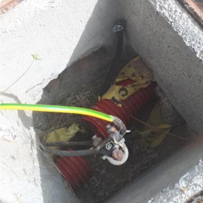Cable cortado.