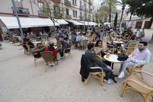 Terrazas en Ibiza.