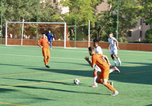 Un equipo del Club Platges de Calvià, durante un partido.