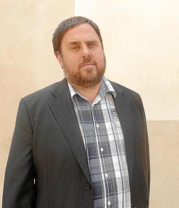 Oriol Junqueras, ayer, en la asamblea de Esquerra en Mallorca; por la tarde viajó a Eivissa para impartir una conferencia.