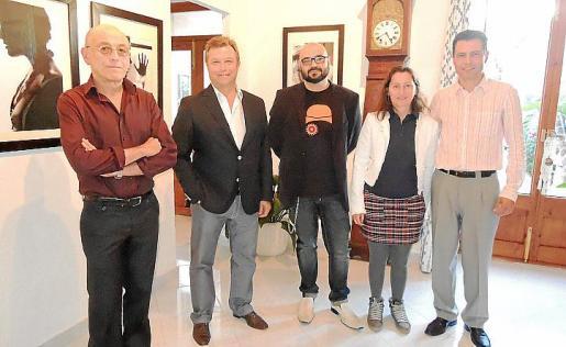Miquel Esbert, Miquel Bonet, Curro Viera, Anna Vallespir y Juan Perelló.