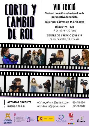Cartel anunciador de la nueva edición del taller audiovisual.