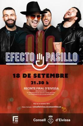 Efecto Pasillo actúa el 18 de septiembre en el Recinto Ferial de Ibiza.