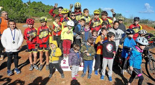 Una prueba ciclista para niños celebrada en Santa Gertrudis en 2019.