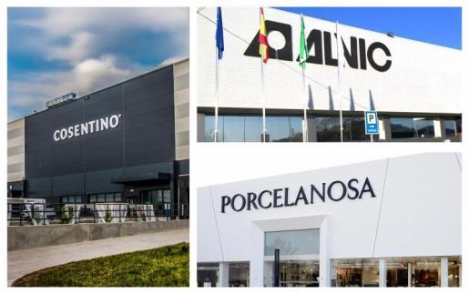 Cosentino, Porcelanosa y Alvic, referentes mundiales españoles en el sector de la decoración.