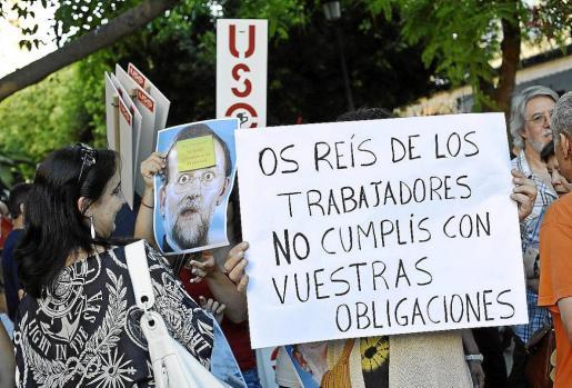 Imagen de archivo de una protesta de los sindicatos contra la reforma laboral.