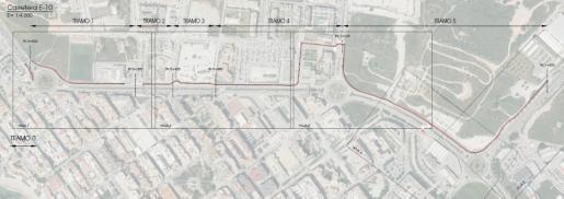 Mapa del carril bici.