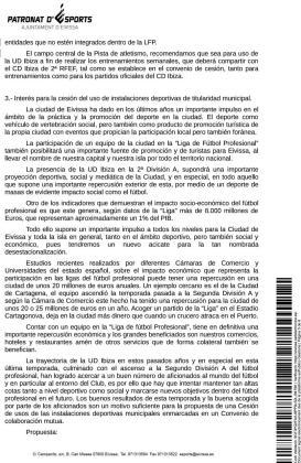 Una de una página de la memoria justificativa del Patronato en la que se menciona el estudio de Cartagena.