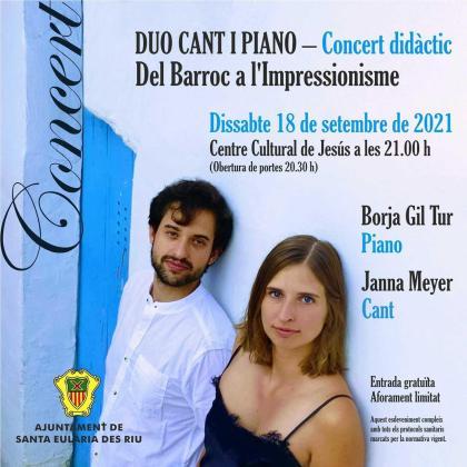 La música clásica llega este sábado al Centre Cultural de Jesús con 'Del Barroc a l'Impressionisme'.