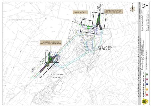 La rotonda finalizará la circunvalación de Sant Carles y permitirá abordar la peatonalización del centro.