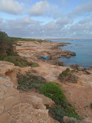 Patera llegada este sábado a Formentera.