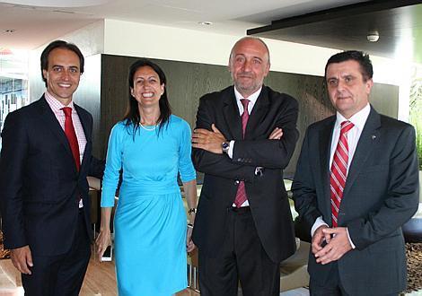 Álvaro Gijón, Inma de Benito, Tito Casasnovas y Aurelio Vázquez.