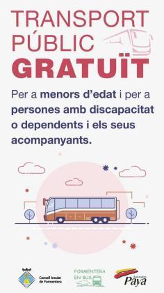 El transporte gratuito para menores y dependientes de Formentera supuso 12.723 viajes este verano.