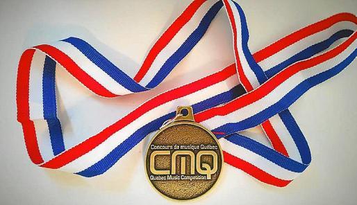 Imagen de la medalla de oro que ha conseguido Frank Cogollos.