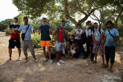 Inmigrantes arribados a Formentera.
