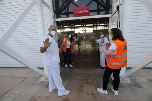 El punto de vacunación que ha funcionado desde el 15 de marzo en el Recinto Ferial de Ibiza vivió ayer sus últimas horas.