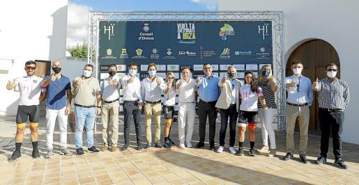 La presentación de la Vuelta Cicloturista a Ibiza tuvo lugar ayer en Sant Agustí.