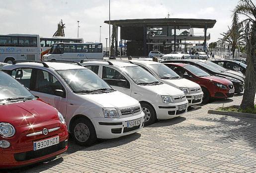 Imagen de archivo de un alquiler de coches en Formentera.