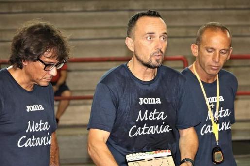 Nacho Garrido, en su etapa en el Meta Catania.