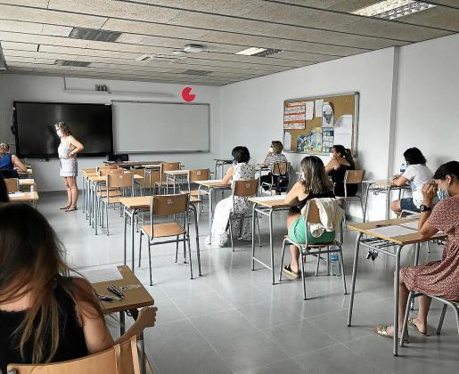 Imagen de archivo de oposiciones de docentes en Ibiza.