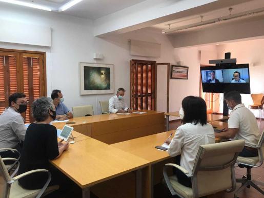 Reunión celebrada este miércoles en el Consell de Formentera.