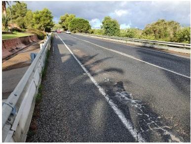 Estado actual de la carretera.