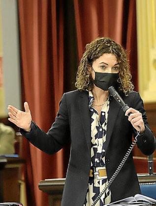 Rosario Sánchez, durante una intervención.